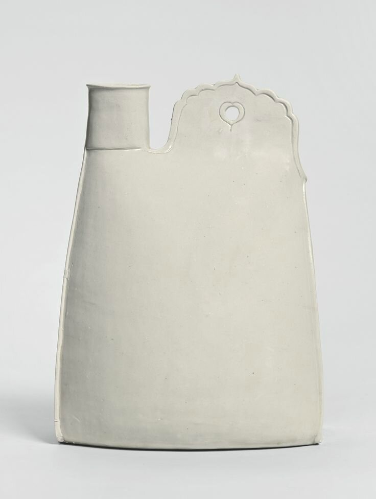 A white stoneware flask, Liao dynasty, 10th century