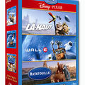 Coffret Pixar : UP, WALL-E et RATATOUILLE