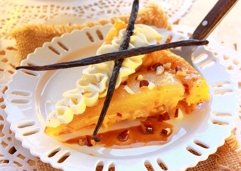 Tarte Tatin aux poires, caramel beurre salé, noix de pécan5