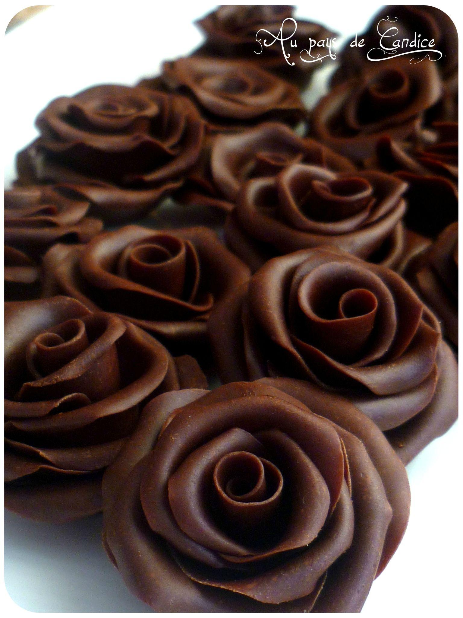 recette de la pte de chocolat ou chocolat plastique - Comment Colorer La Pate D Amande