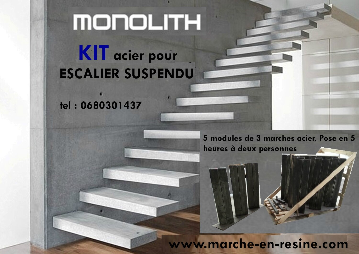 escalier suspendu paris renseignement tel 0680301437. Black Bedroom Furniture Sets. Home Design Ideas