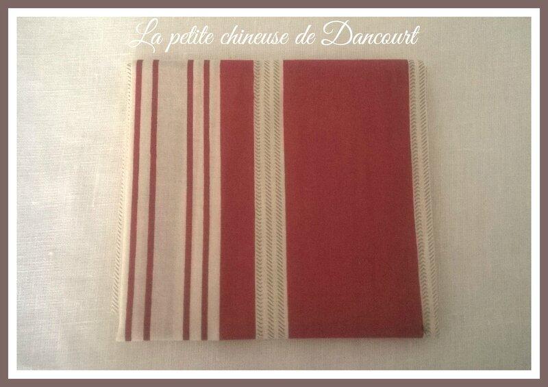 Coupon de tissus Mas d'Ousvan Marcus rouge