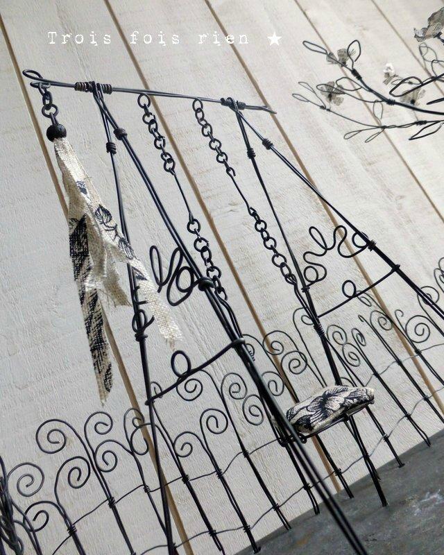 Au jardin des soupirs, fil de fer, wire garden 2