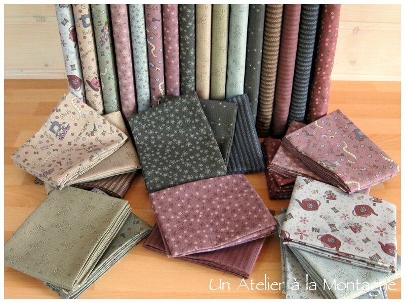 Collection Needles & Pins de Lynette Anderson, tissu au mètre ou fat quarters.
