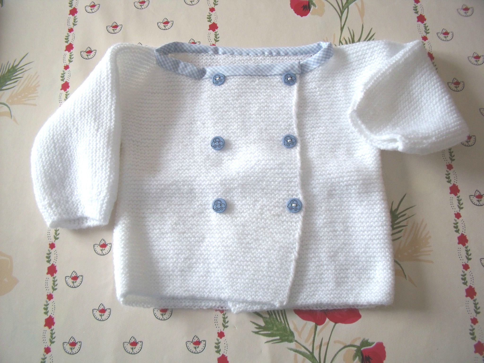 botton bébé tricot