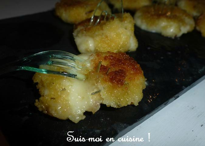 Bouchées de mozzarella panées