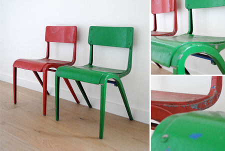 so deco en rouge et vert photo de chaises d 39 enfants ribambelles ribambins. Black Bedroom Furniture Sets. Home Design Ideas