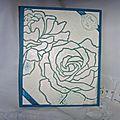 Carte fleur de manhattan embossée 05 2013