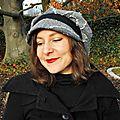 Vendue gavroche femme taille 57-58 en tweed et chevrons gris casquette hiver laine