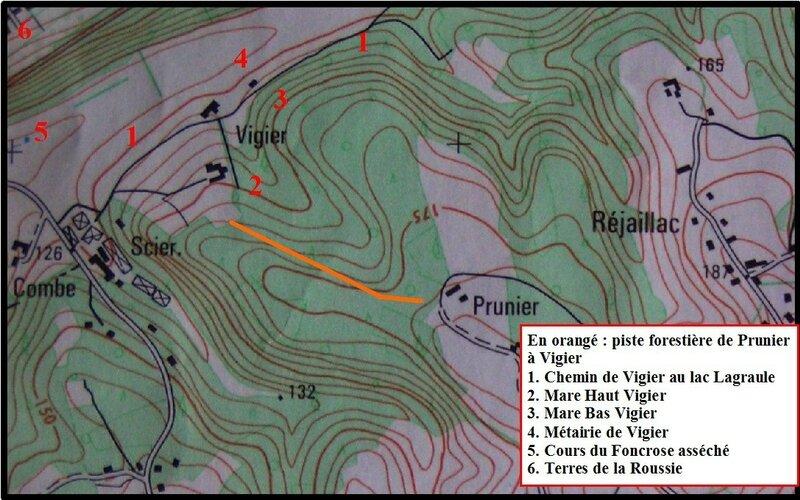 carte autour de Vigier
