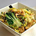 Wok de poulet au légumes verts