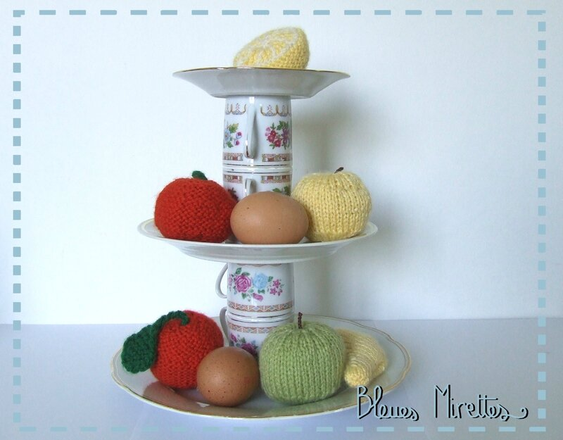 Plateau de fruits tricot