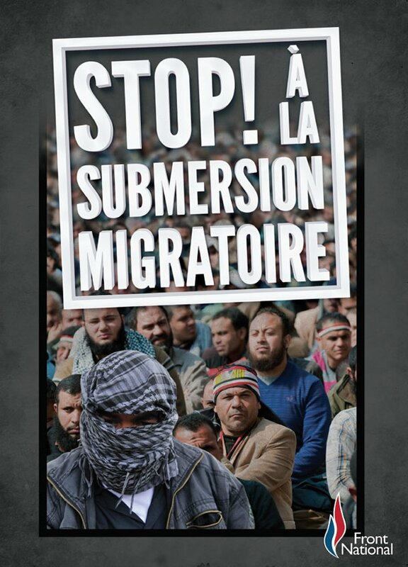 Affiche Submersion migratoire 2