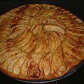 Tarte fine aux pommes et caramel au beurre facile