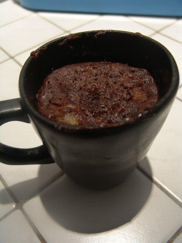 Mug Cake banane chocolat