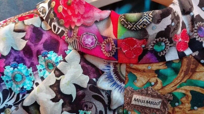 Veste VICTORINE en toile de coton imprimée zèbre-léopard-rose-violet - Doublure de satin noire (9)