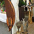 Sculptures en bois de Christine DE THEZAN et sculptures de Larry