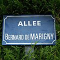 Jallais (49), allée Bernard de Marigny