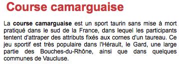 <course Camargaise