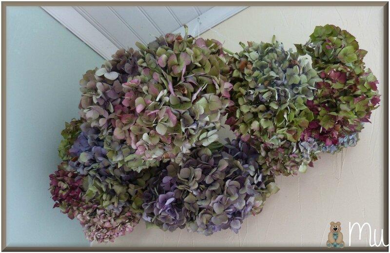 hortensias au bout d'une semaine mise en bouquet