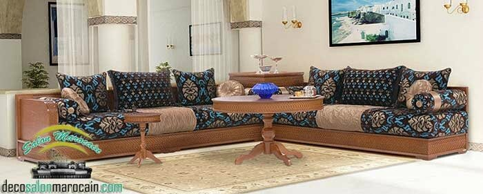 Salon Canapé Moderne Marocain 2017 : Salon marocain traditionnel design