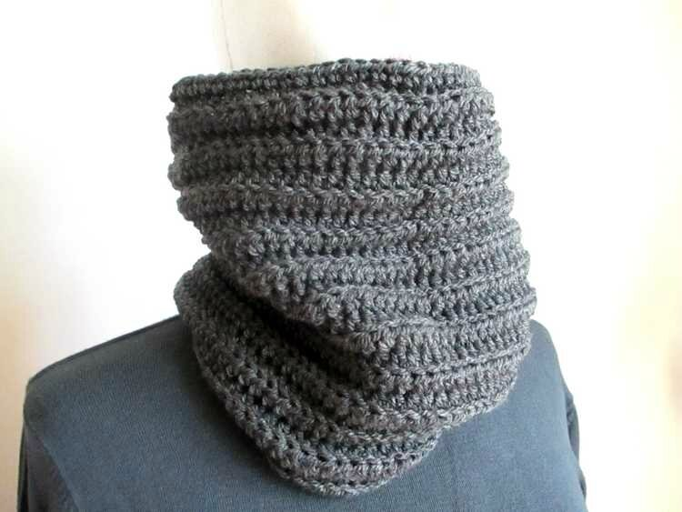 Snood gris homme1