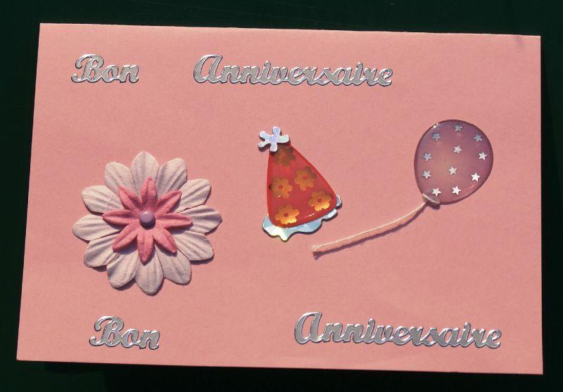 Une carte d 39 anniversaire pour une petite fille de 6 ans la caverne de monia - Carte anniversaire petite fille ...