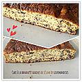 Cake à la banane et sésame grillé ( 184 cal/ par part)