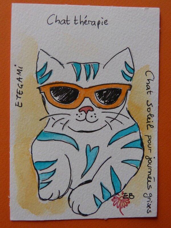 étégami chat thérapie Evelyne