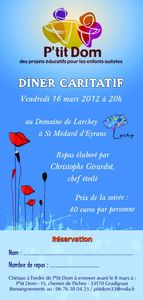 Flyer soirée caritative 2012 recto