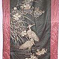 Grande tenture « les hérons », indochine vers 1900
