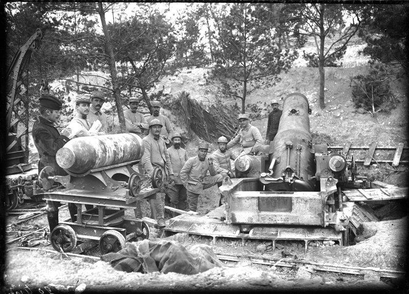 1915-09 Champagne, Mortier de 370, 7ème Bie du 11ème RAP