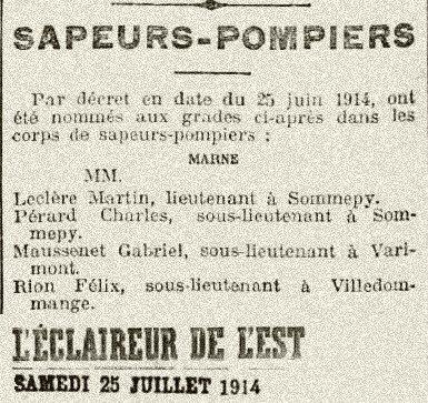 1914 RION pompiers