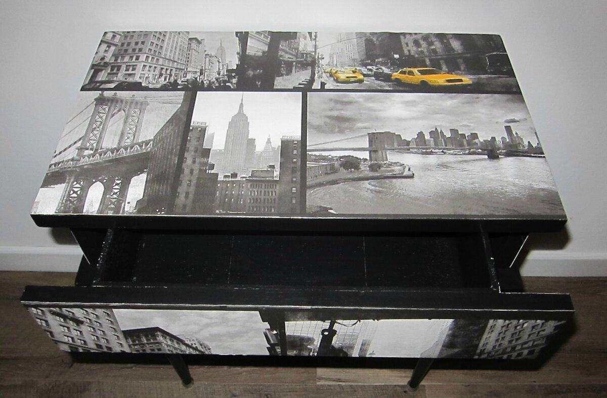 Table de chevet style new york - Table basse relevable new york ...