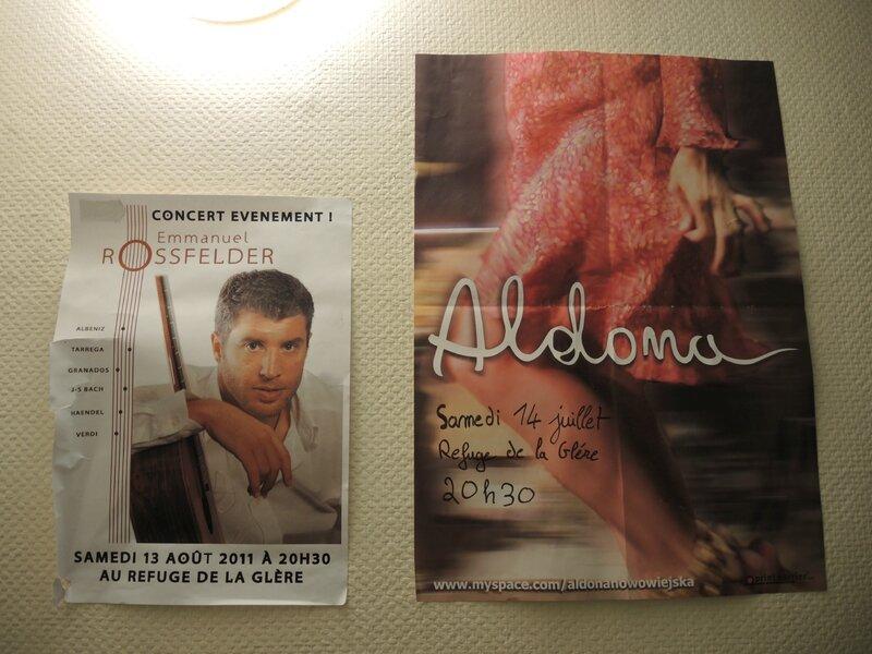 Refuge de la Glère, affiches concerts (65)