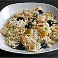 Salade de riz aux encornets