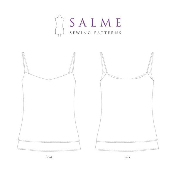 Salme Patterns - Double Layer Camisole
