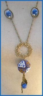 collier kallisto bleu bronze blanc 3