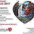 Fête communale, fëte du bombon et journée des peintres, mai-juin 2017