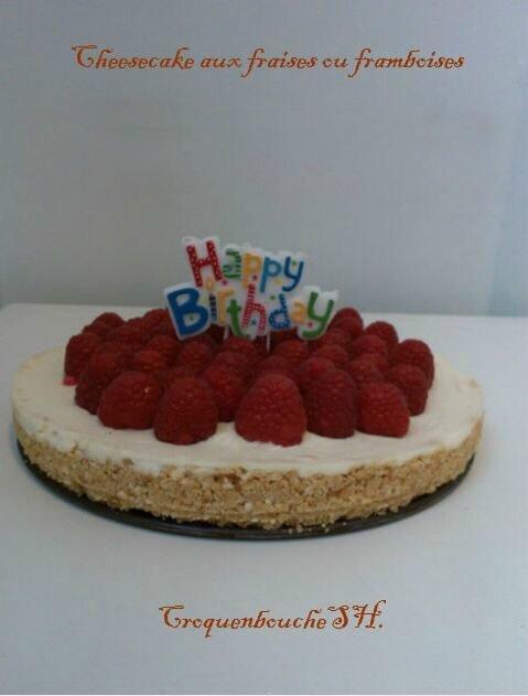 Cheesecake aux fraises ou framboises