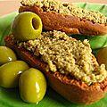 Tartinade d'olives vertes aux lentilles
