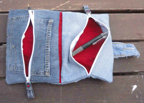 2 trousses en 1 foldingo en jean, fold and double denim pouch (3)