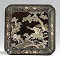 A rare mother-of-pearl-inlaid black lacquer dish, ming dynasty, 16th century