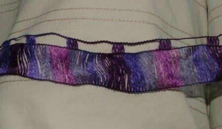tricoter une laine ruban