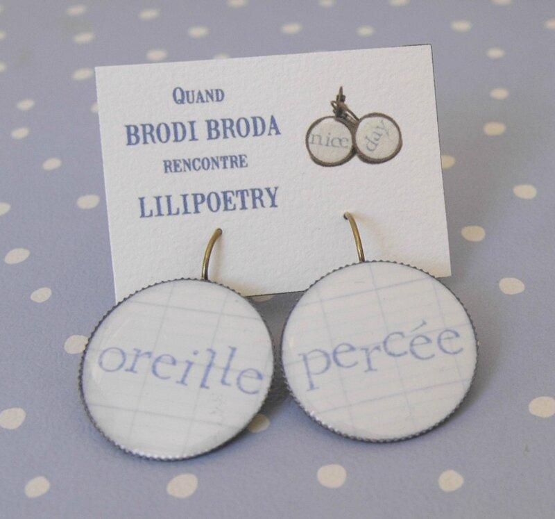 Brodi Broda-bijoux lilipoetry cahier écolier-boucles doreille oreille percée