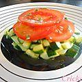Tartare de courgettes et de tomates