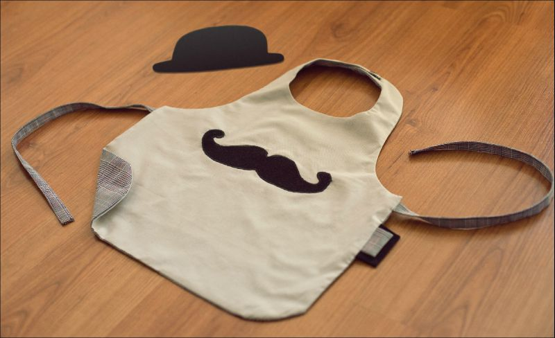 tablier moustache enfant photo de tutoriels fils et ficelles. Black Bedroom Furniture Sets. Home Design Ideas