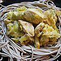 poulet acidulé pâtes soba