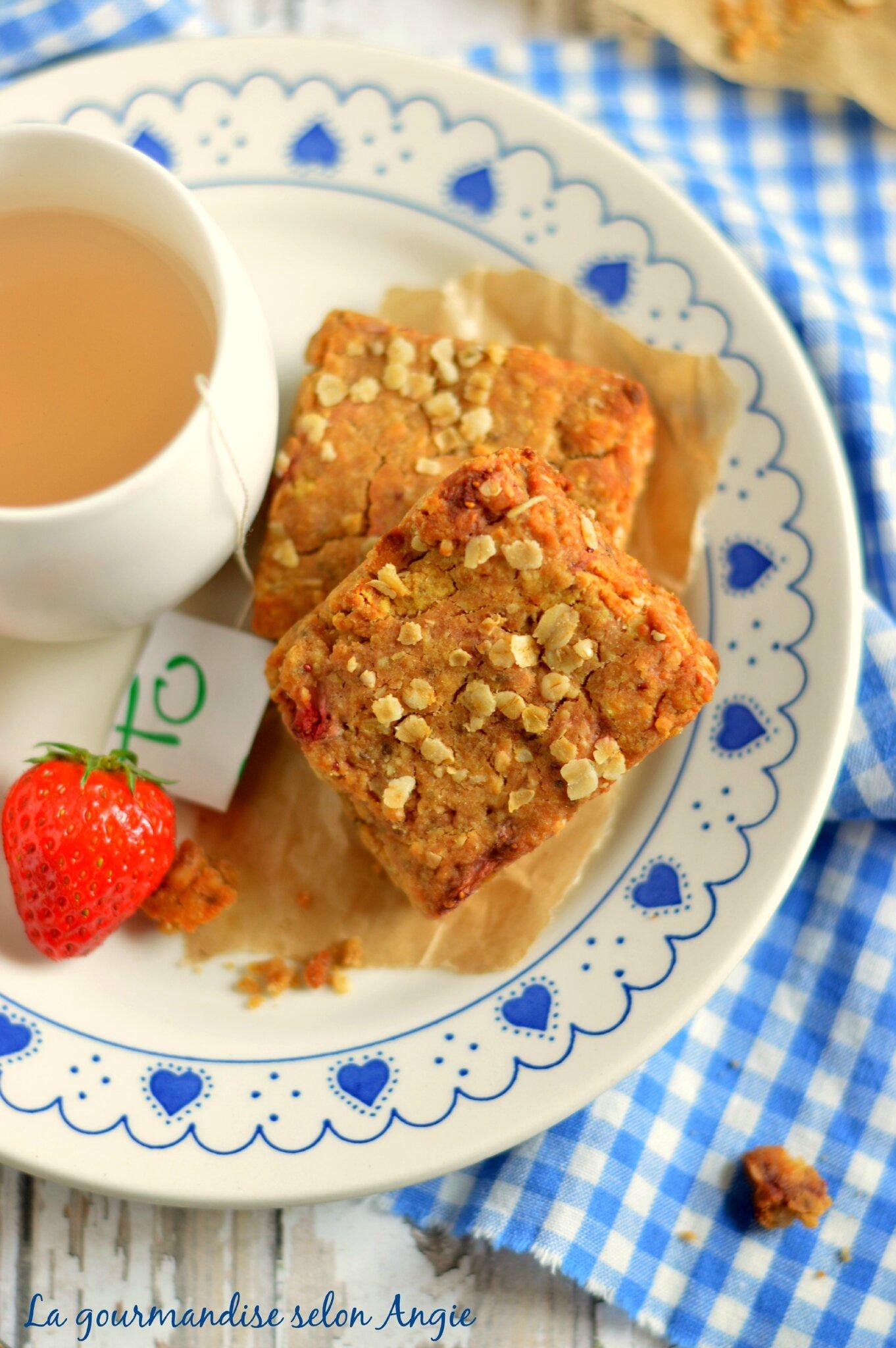 scones fraises et sarrasin vegan 1