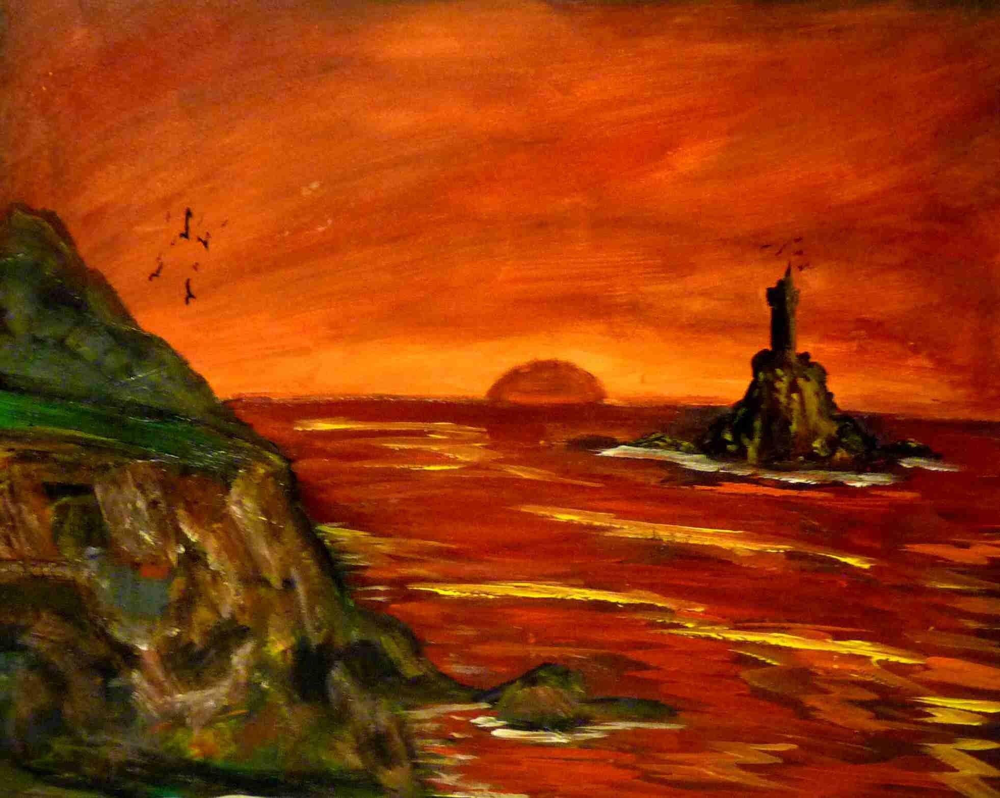 Coucher de soleil blog de jules peintures et dessins - Dessin coucher de soleil ...